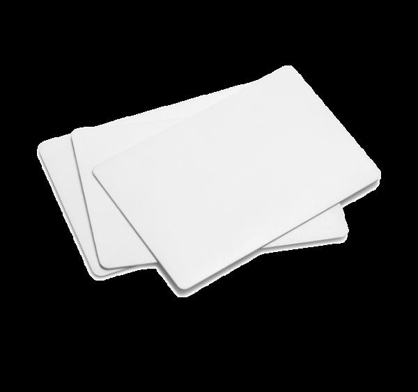Karty plastikowe białe